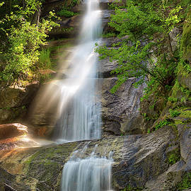 Waterfall Mist And Sunlight by Leland D Howard