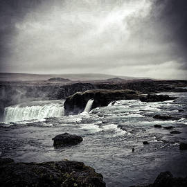 Waterfall Of The Gods Black And White by Jim Cook