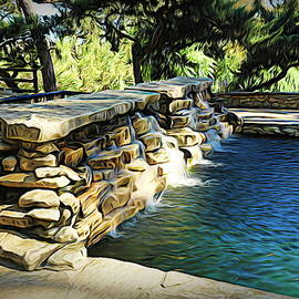 Waterfall Pool by Judy Vincent