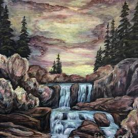 Waterfalls by Lake Irwin Colorado  by Cheryl Pettigrew