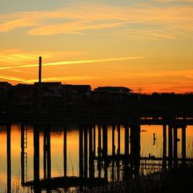 Waterfront Sunset by Cynthia Guinn