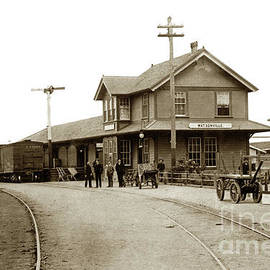 Southern Pacific  Watsonville R/R depot  by California Views Archives Mr Pat Hathaway Archives