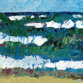 Waves And Blue Sky by Michelle Calkins