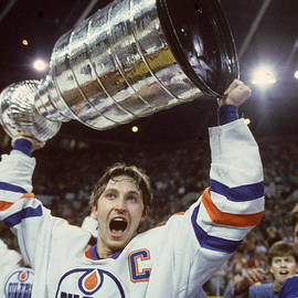 Wayne Gretzky Celebrates With The by B Bennett