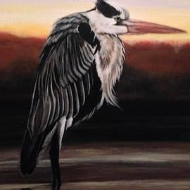 Weathered Heron by Barbara Andrews