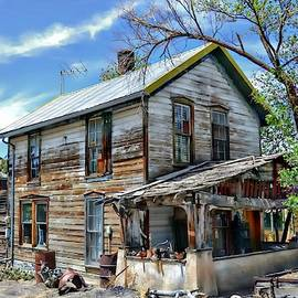 Weatherworn House In Madrid New Mexico by Toni Abdnour