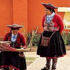 Weavers in Chinchero by Julie Pacheco-Toye