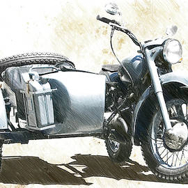 Wehrmacht BMW 500 with Sidecar - DWP4344066 by Dean Wittle