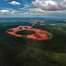 Weipa From The Air Wet Season by Joan Stratton