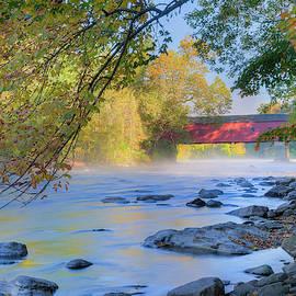 Bill Wakeley - West Cornwall Covered Bridge Autumn