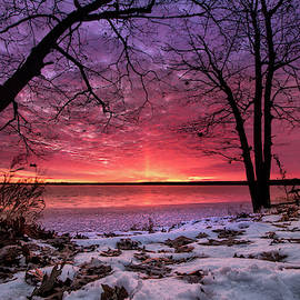 West Pine Drive Winter Sunrise by Ron Wiltse
