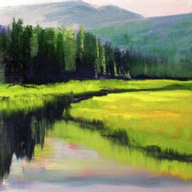 Western River Landscape by Nancy Merkle