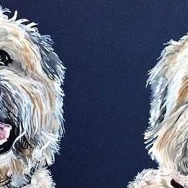 Wheaten Terriers by Barbara Donovan