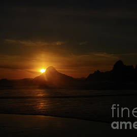 When sun touches rock  by Jeff Swan