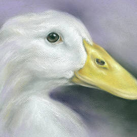 White Duck On Purple by MM Anderson