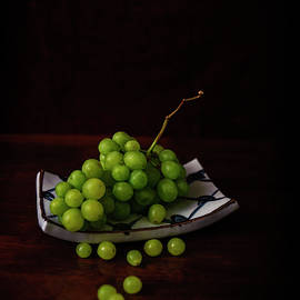White Grapes on Japanese Dish by Cassi Moghan