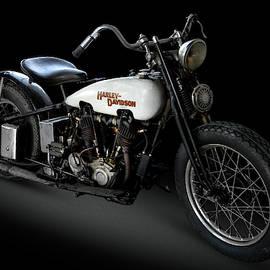 White Harley Davidson by Andy Romanoff