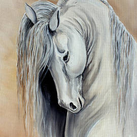 White Horse - Andalusian by Pechez Sepehri