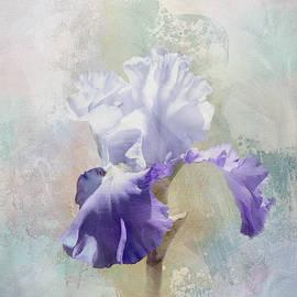 White Iris Textured by Terry Davis