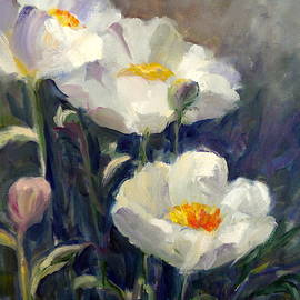 Sally Bullers - White Peonies