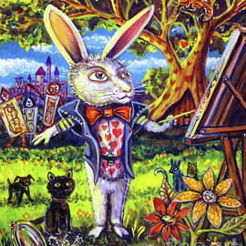 White Rabbit Alice In Wonderland by CBjork Art