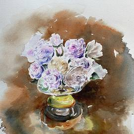 White Roses watercolor by Geeta Biswas