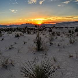 White Sands, New Mexico Sunset  by Chance Kafka