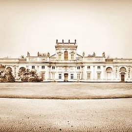 Wilanow Palace #3 in Sepia, Warsaw by Slawek Aniol