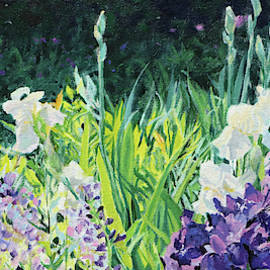 Wild Abandon - Irises, Peonies and Baptisia in the garden in May by Bonnie Mason