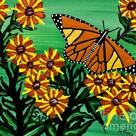 Wild Flowers And The  Butterfly by Jeffrey Koss