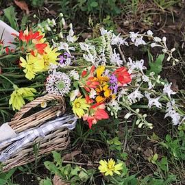 Wildflowers In A Basket by Sheila Brown