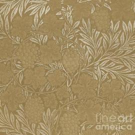 William Morris, Vintage Textile Design Brown by William Morris