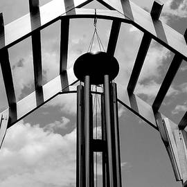 Wind Chime - B and W by Arlane Crump
