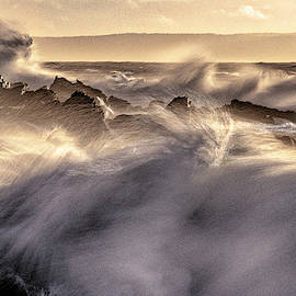 Wind Driven Surf at Quoddy by Marty Saccone