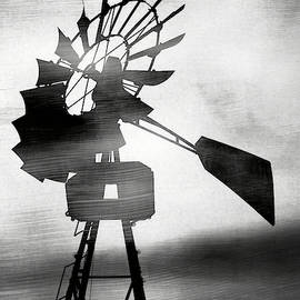 Windmill In The Wind- Art By Linda Woods by Linda Woods