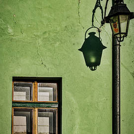 Stuart Litoff - Window Streetlight and Shadow - Romania