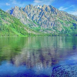 Window to the Tetons, Jenny Lake by Marcy Wielfaert