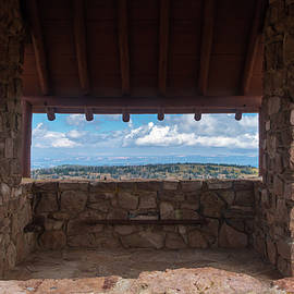 Window View - CCC Lookout- Cedar Breaks - Utah by Debra Martz