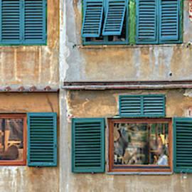 Windows of  Ponte Vecchio by David Letts
