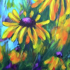 Windswept coneflowers 1 by Karen Kaspar