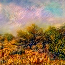 Windy Golden Meadow by Joel Bruce Wallach