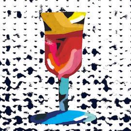 Wine And Matzo- Art By Linda Woods by Linda Woods