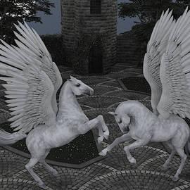 Winged Horses by Barroa Artworks