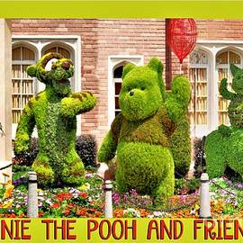 Winnie The Pooh And Friends Collage by Diann Fisher