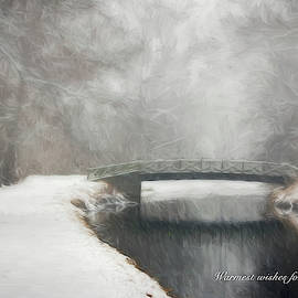 Winter Bridge Holiday Card by Francis Sullivan