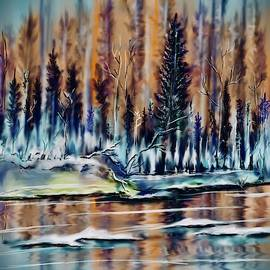 Winter Forest River by Darren Cannell