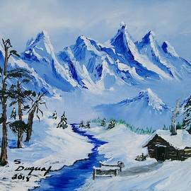 Winter In The Rockies by Sharon Duguay