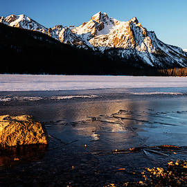 Winter morning at Sawtooths in Stanley Idaho USA by Vishwanath Bhat
