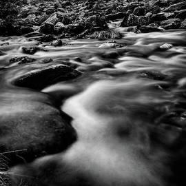 Winter Rapids Snowdonia by Adrian Evans