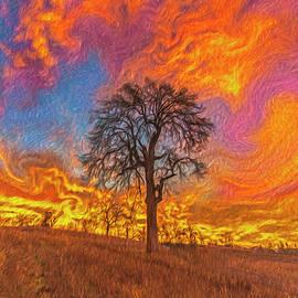 Winter Sunrise Artistic Rendering by Jonathan Hansen